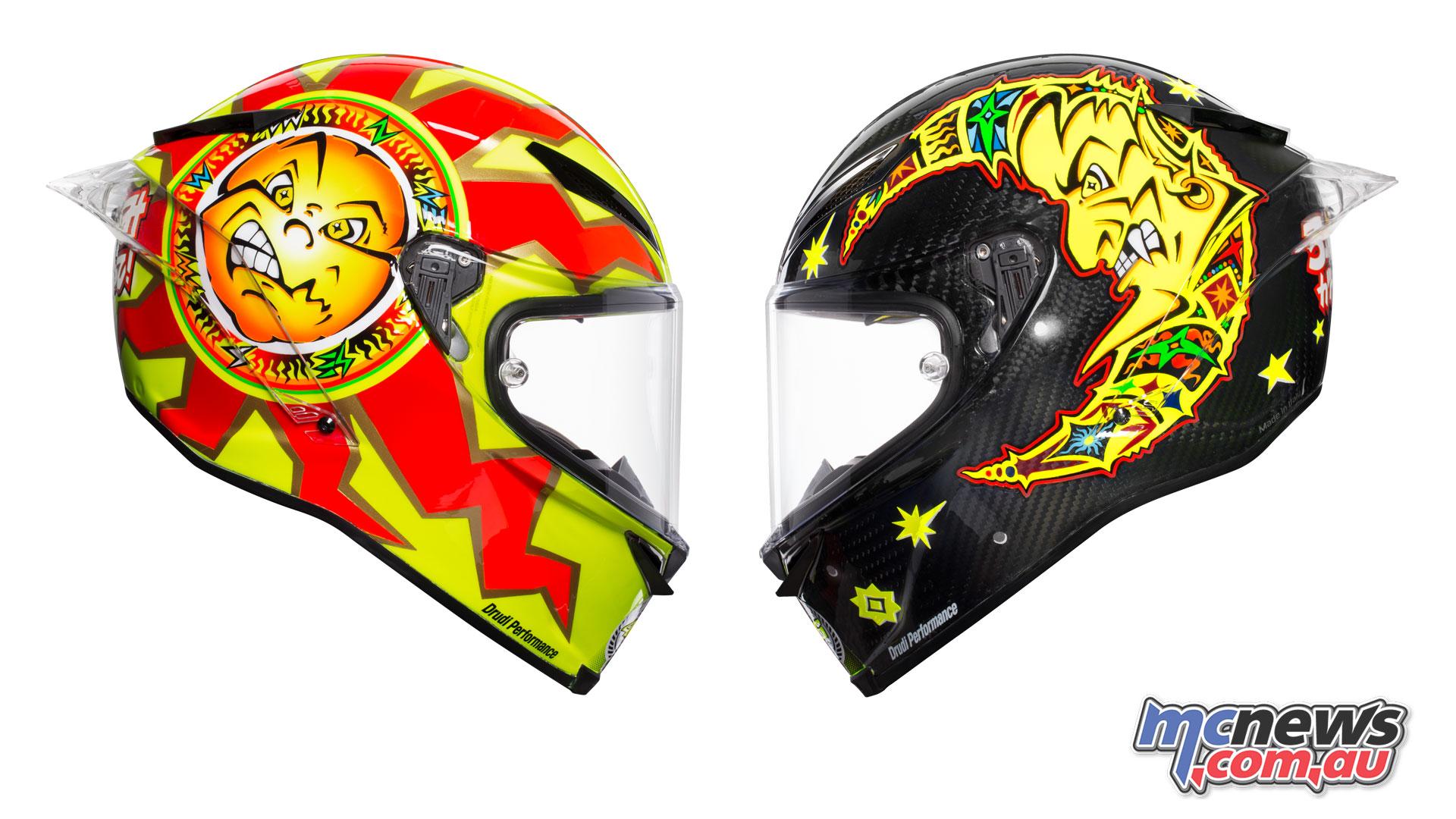 Valentino Rossi AGV Pista GP R SoleLuna Helmet