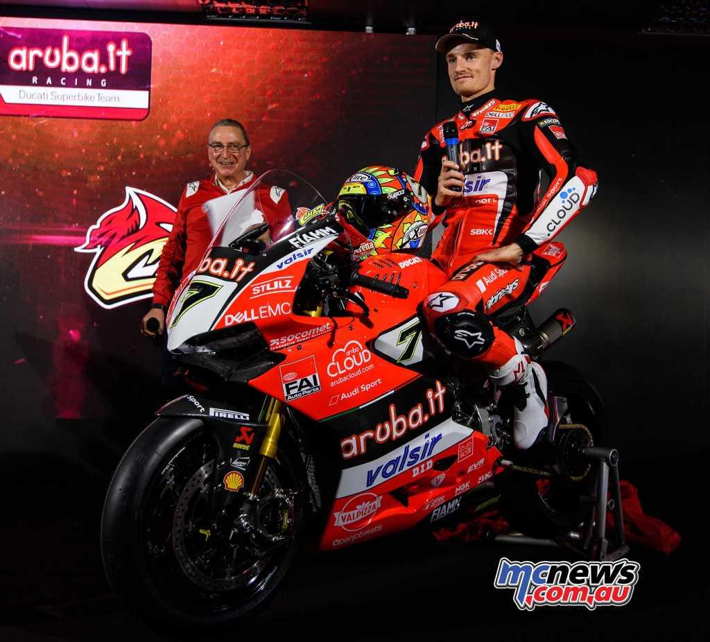 Ducati 2018 WorldSBK Launch - Chaz Davies