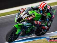 Jonathan Rea quickest on Tuesday morning in a Kawasaki 1-2