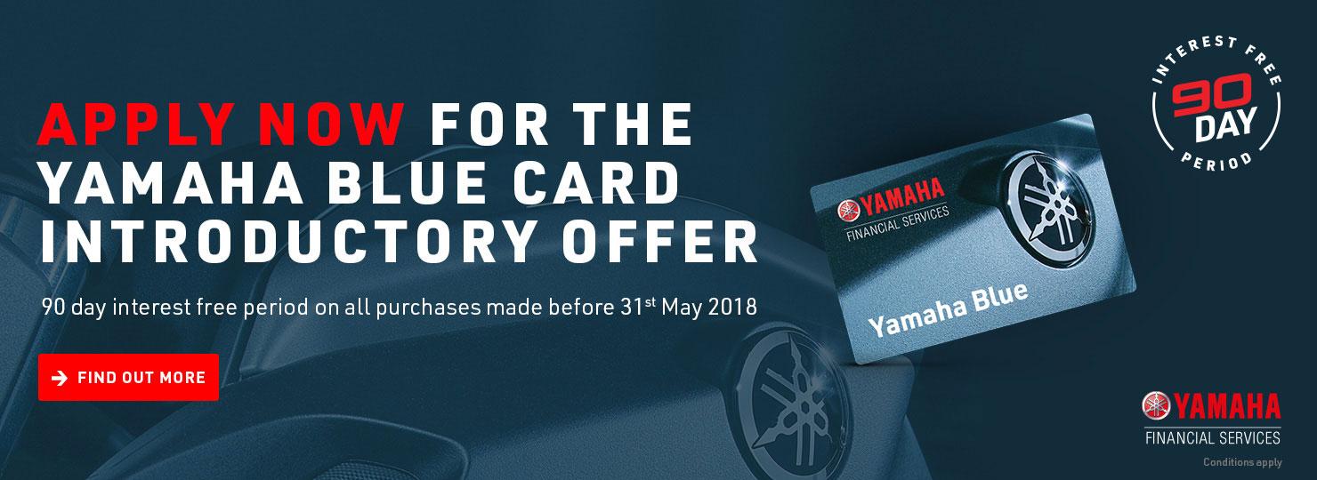 Ymf launches yamaha blue card finance for Yamaha motor credit card