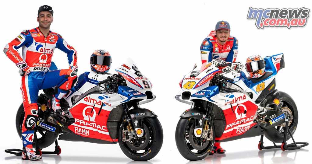 Alma Pramac Racing Ducati 2018 - Jack Miller and Danilo Petrucci