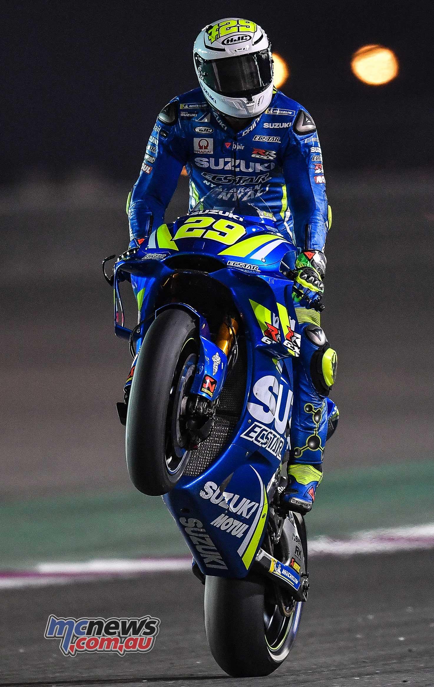 Suzuki top second day of MotoGP #QatarTest at Losail | MCNews.com.au