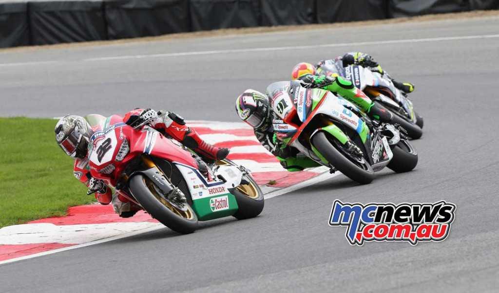 Jason O'Halloran got the better of Leon Haslam in race one