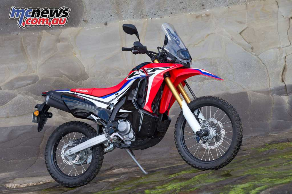 The Honda CRF250L Rally provides the ideal entry point for new riders, with a flexible 250cc engine and great style