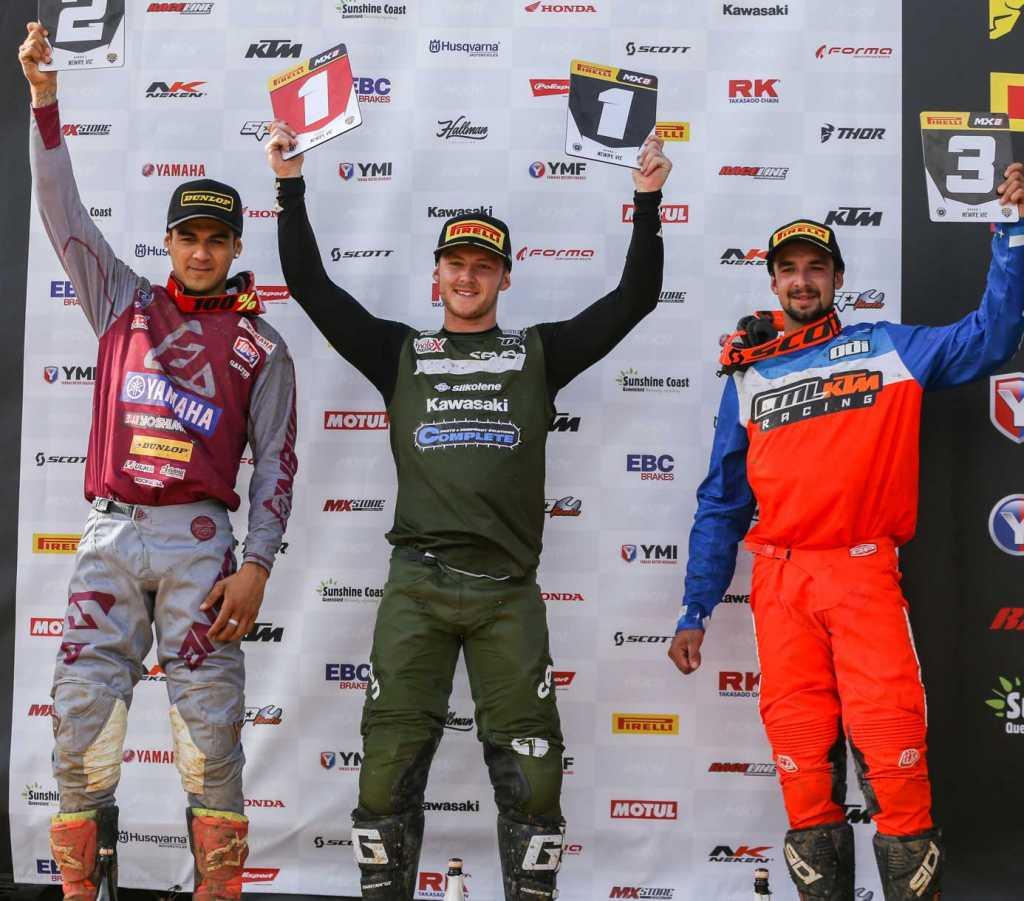 Pirelli MX Nationals Rd1 Newry - MX2 Results Aaron Tanti (Kawasaki) 65 2. Nathan Crawford (Yamaha) 63 3. Hamish Harwood (KTM) 58