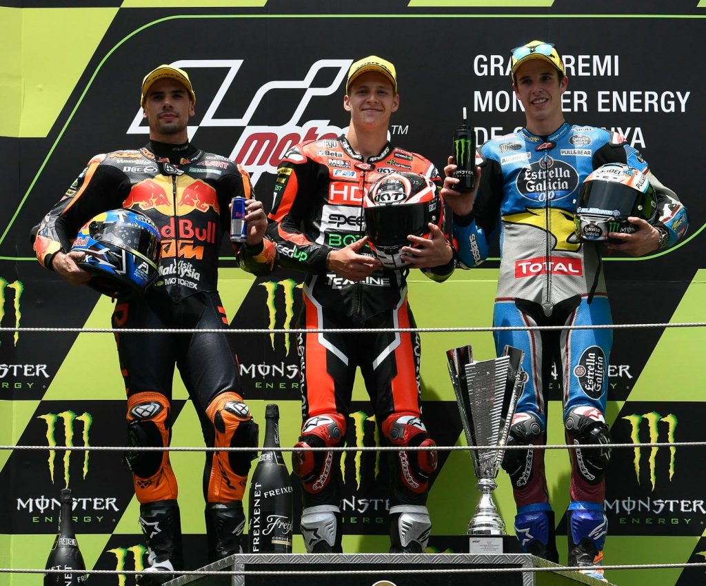 Moto2 Race Results Fabio Quartararo (FRA) SPEED UP 38'22.059 Miguel Oliveira (POR) KTM +2.492 Alex Márquez (SPA) KALEX +3.48
