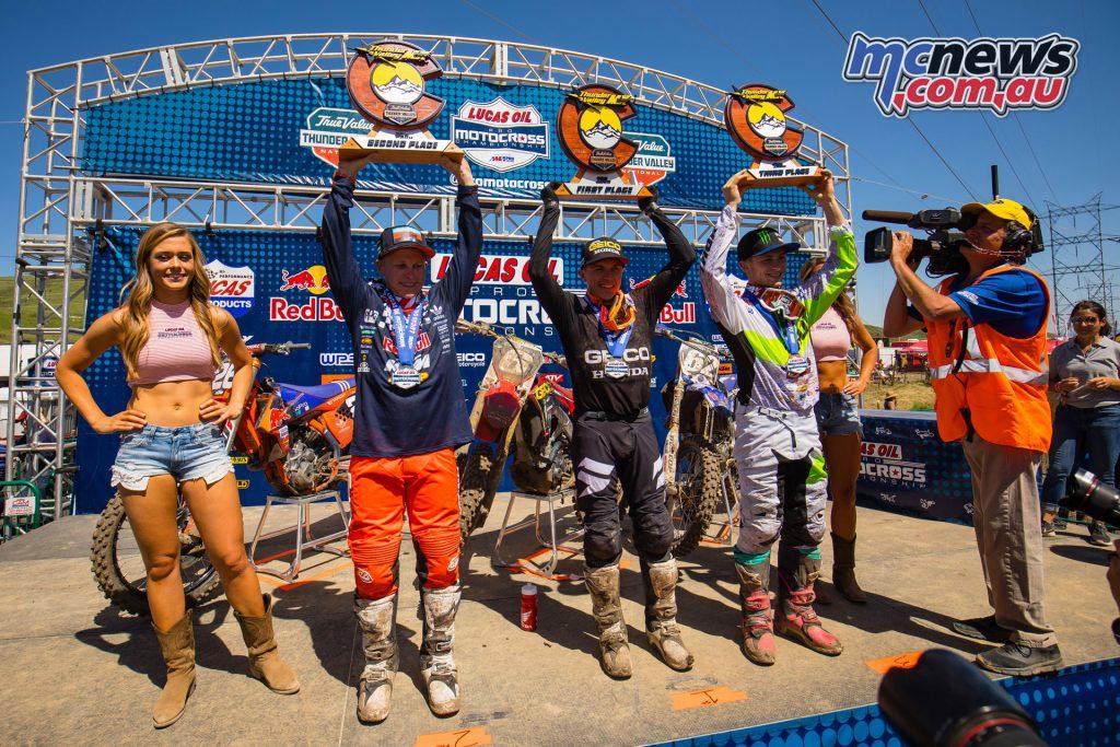 AMA Motocross Round 3 at Lakewood - 250MX Podium -