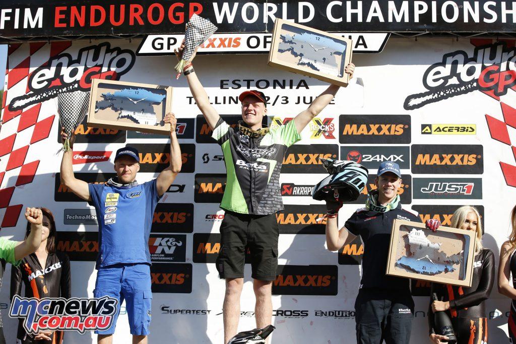 Brad Freeman topped the EnduroGP Day 1 podium