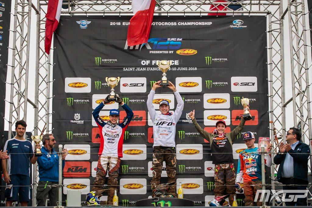 MXGP 2018 - France Round 10 - EMX125 Podium