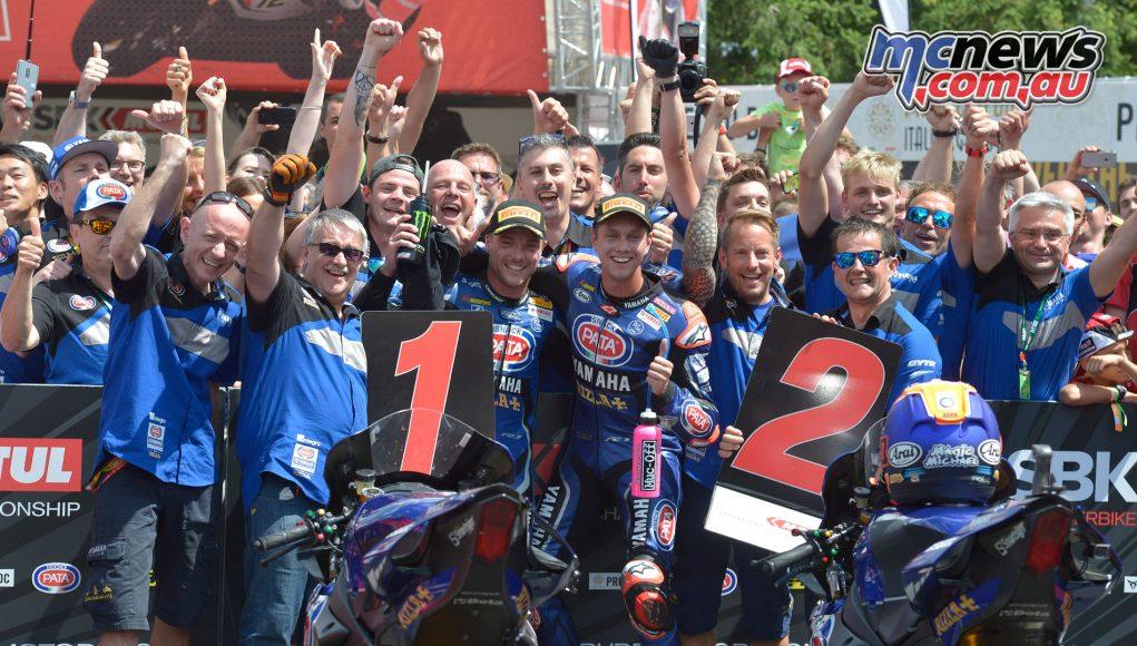 Alex Lowes and Michael van der Mark take the Brno Race 2 Yamaha 1-2
