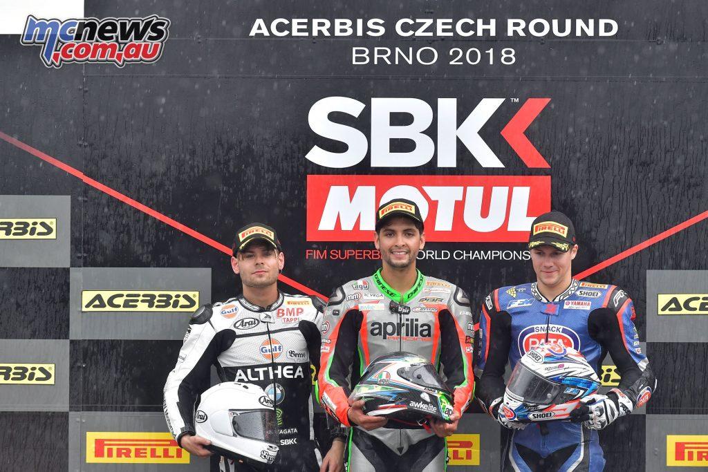 WorldSBK 2018 - Round 7 Brno - Superstock 1000 Podium