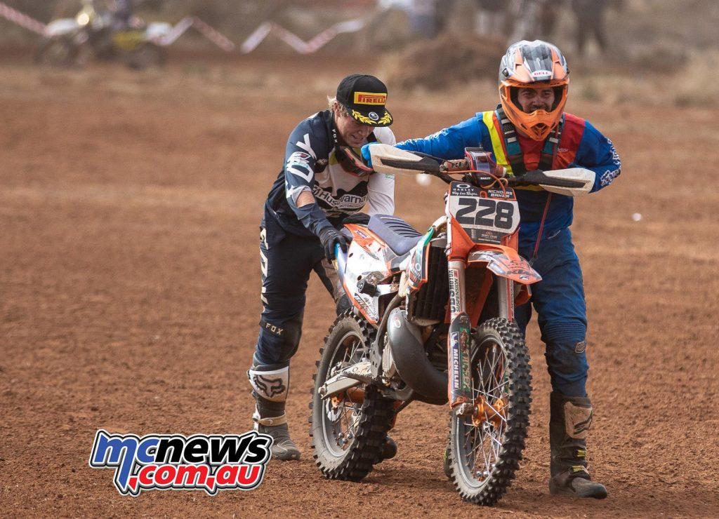 Hattah Desert Race Daniel Sanders Pushed Nicholas Baker