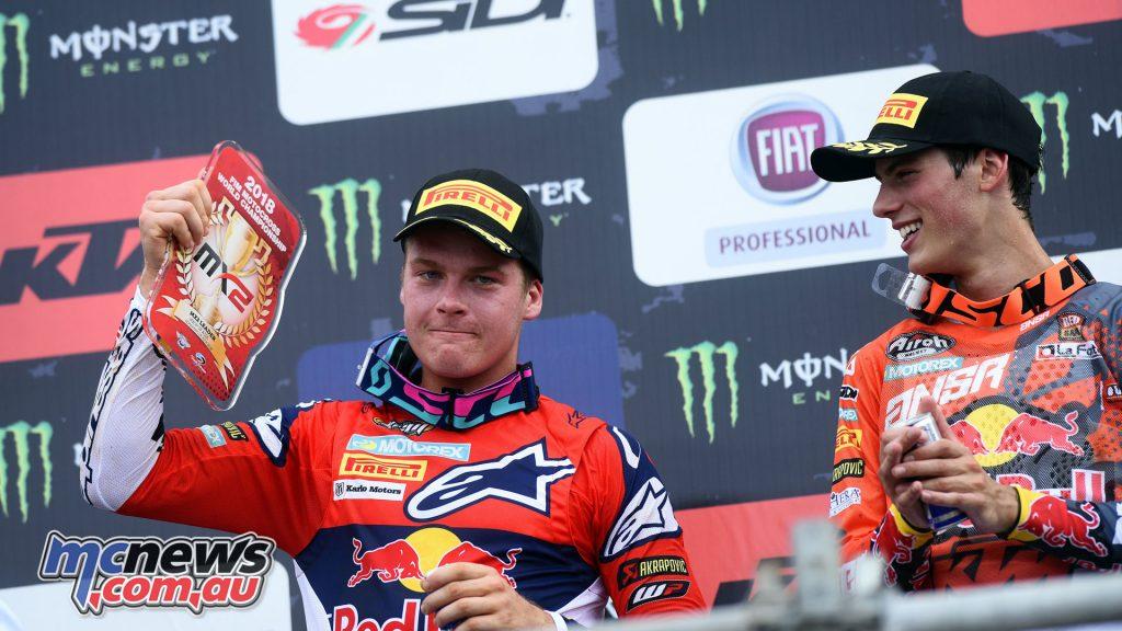 MXGP Indonesia MX Jonass Prado podium