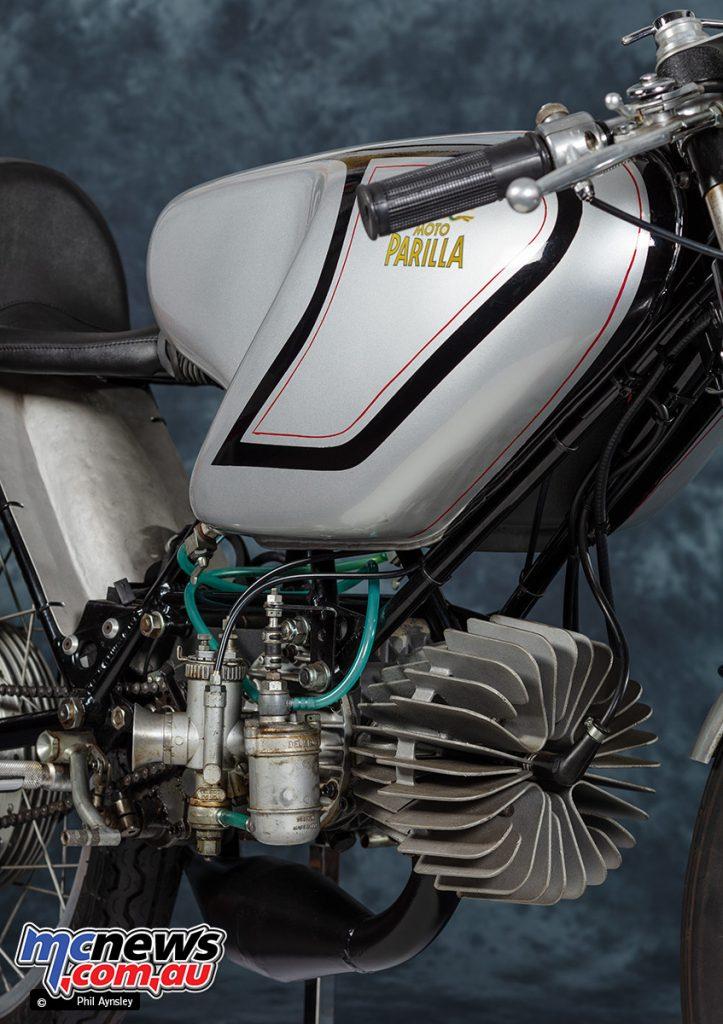 PA ParillaGP rotary disc valve fed horizontal cylinder