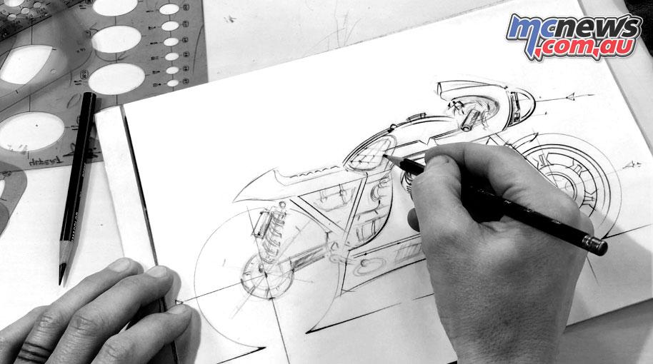 Vanguard Moto Guzzi V Les Mans Design