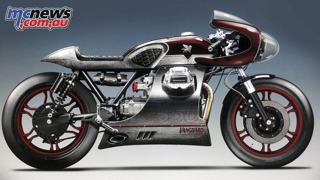 Vanguard Moto Guzzi V Les Mans Rendering
