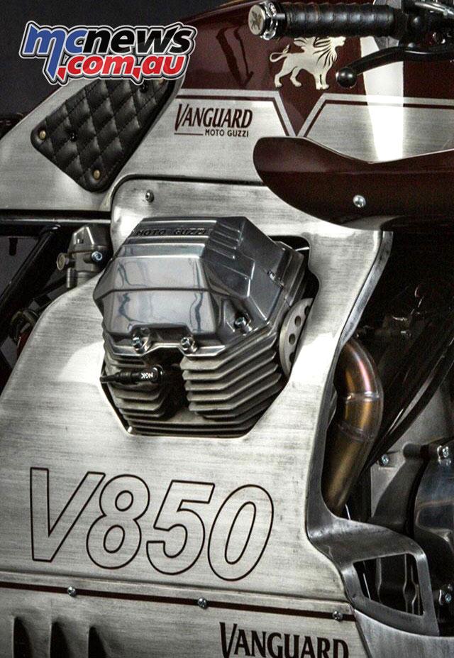 Vanguard Moto Guzzi V Les Mans motor detail
