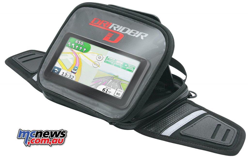 dririder navigator mini tankbag flipup GPS