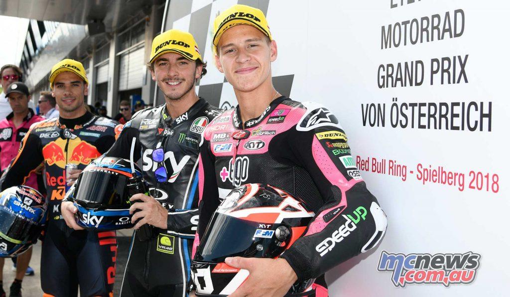 MotoGP Rnd Austria QP Moto QP Trio Francesco Bagnaia