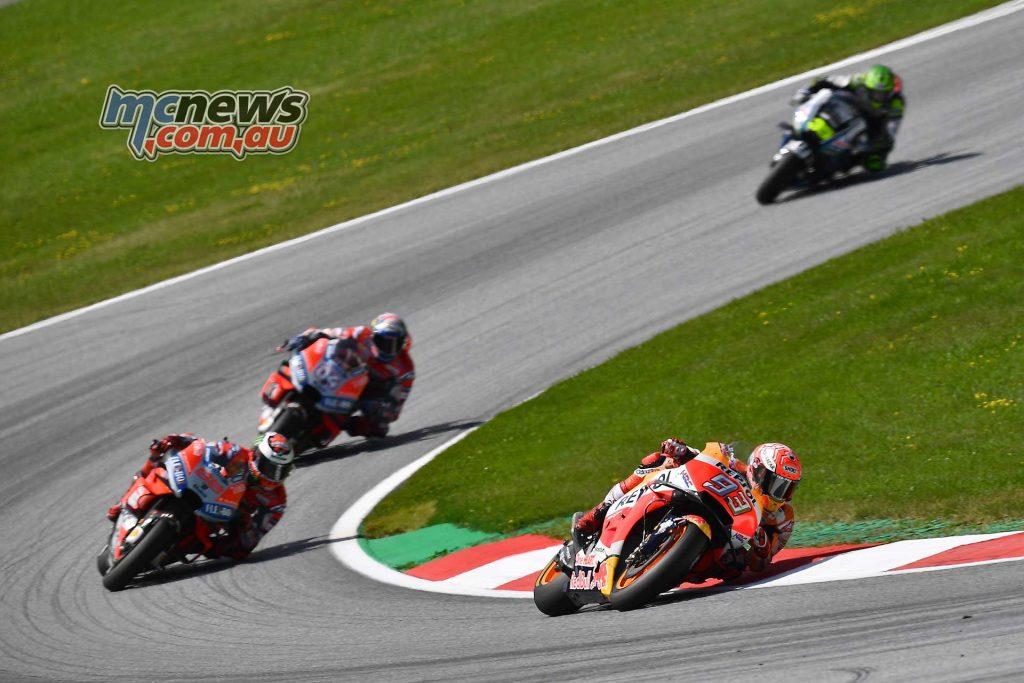 MotoGP Rnd Austria RaceMichelin Marquez Lorenzo