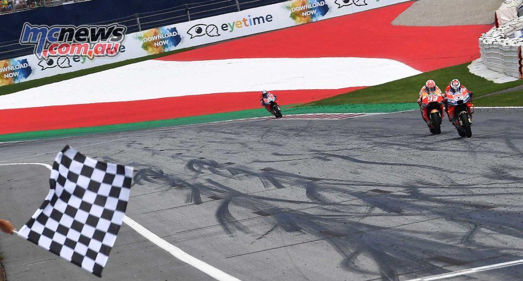 MotoGP Rnd Austria RaceMichelin Lorenzo Flag