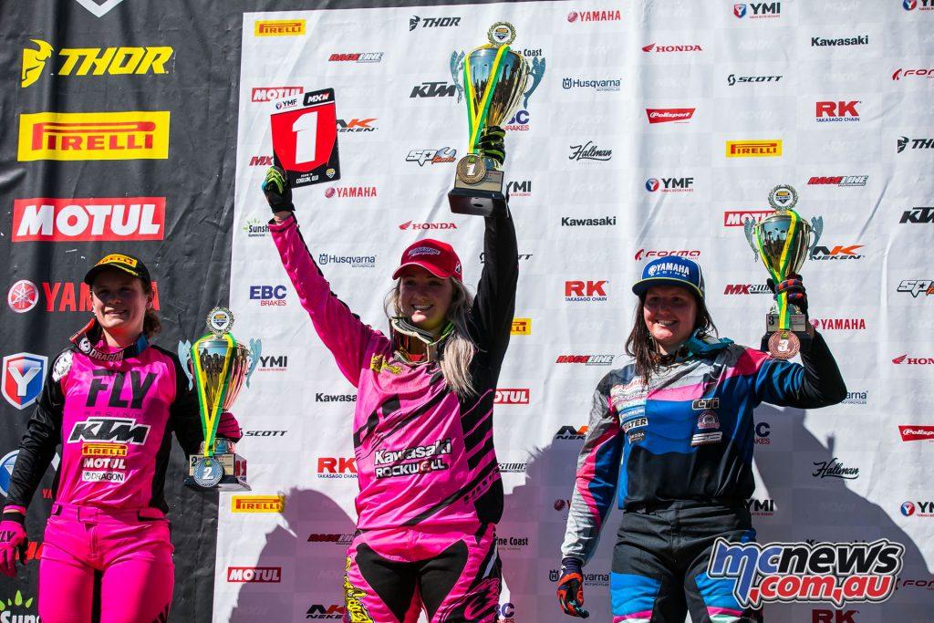 mx nationals coolum round mxw overall winners ImageScottYa