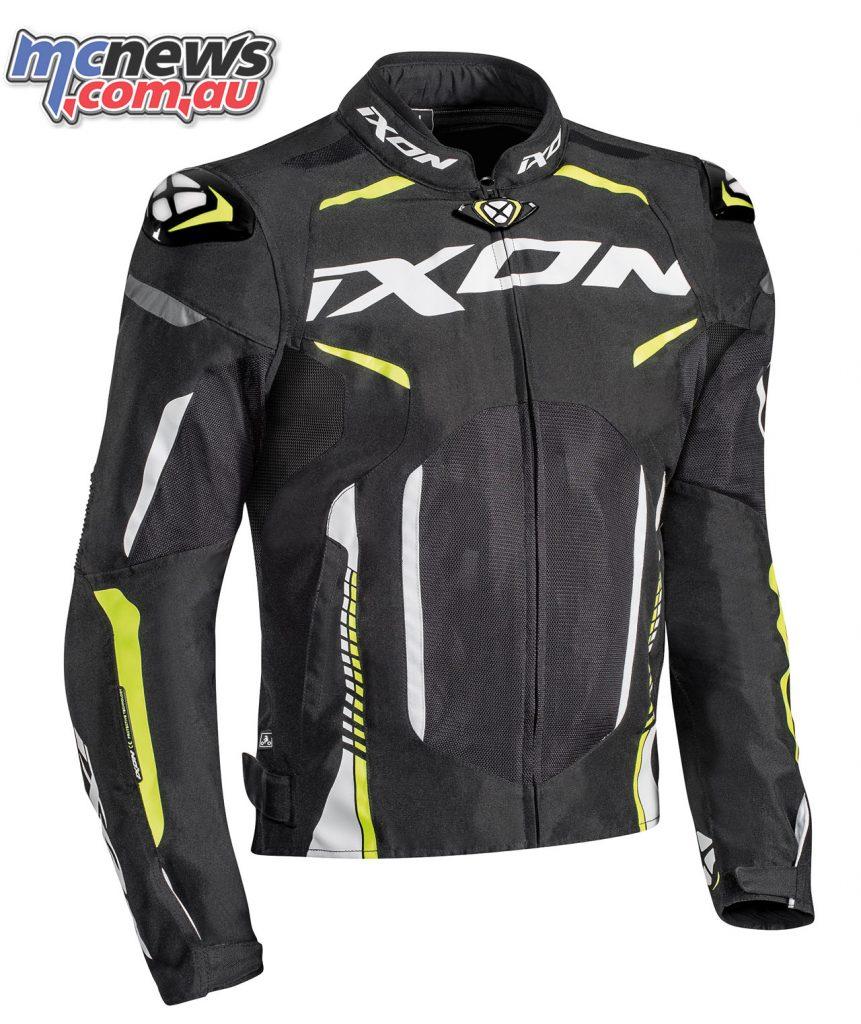 Ixon Jacket Gyre noir blanc jaune vif face