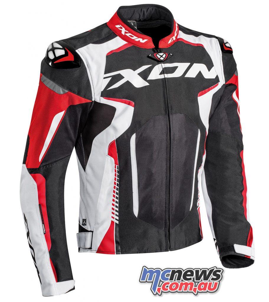 Ixon Jacket Gyre noir blanc rouge face