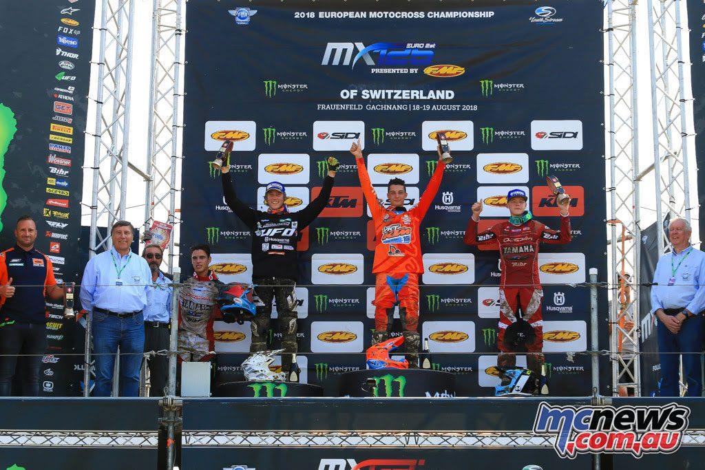 MXGP Rnd Switzerland EMX Podium