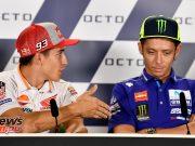 MotoGP Misano Pre Conf Marquez Rossi
