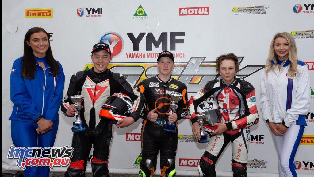 ASBK TBG Rnd Winton GP Junior Cup Overall Podium