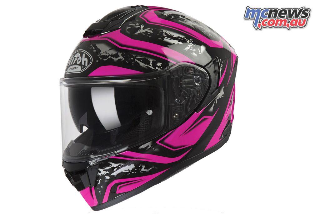 Airoh ST Helmet Dude Pink Gloss Left Angle