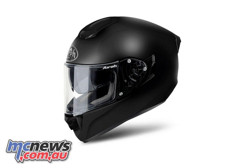 Airoh ST Helmet Solid Matt Black Left Side Angle