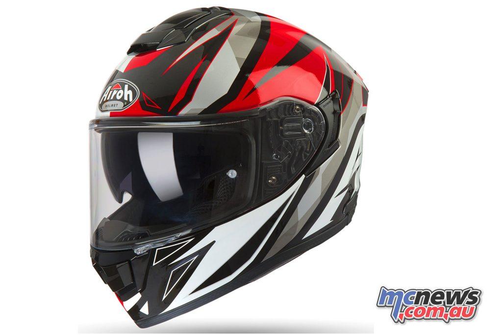 Airoh ST Helmet Thunder Red Gloss Left Side Angle