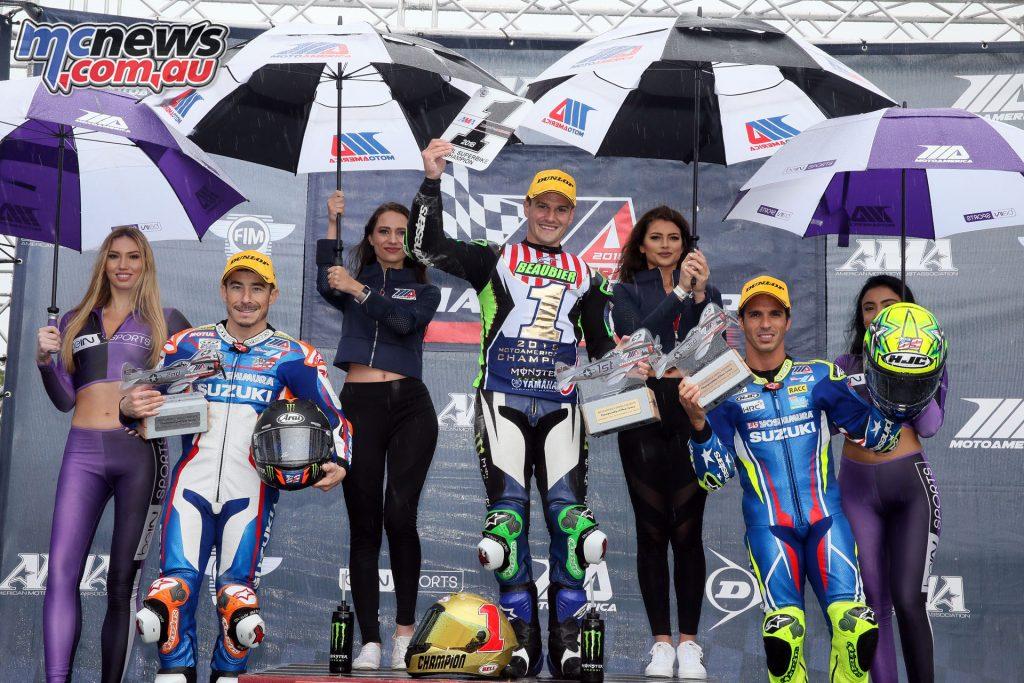 MotoAmerica Round Superbike Podium Sun BJN