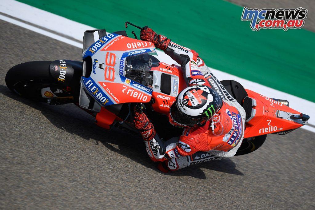 MotoGP Aragaon Rnd Fri Lorenzo