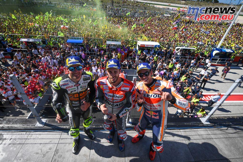 MotoGP Rnd Misano MotoGP Podium