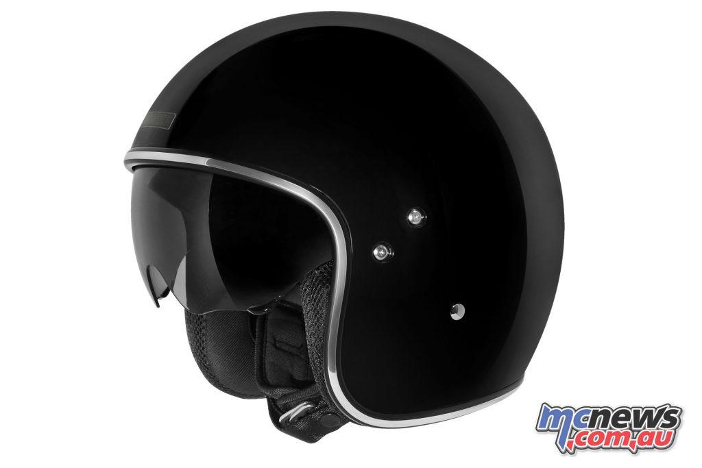 dririder highway solid black helmet