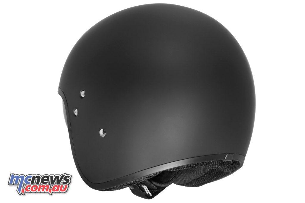 dririder highway solid mattblack rear helmet