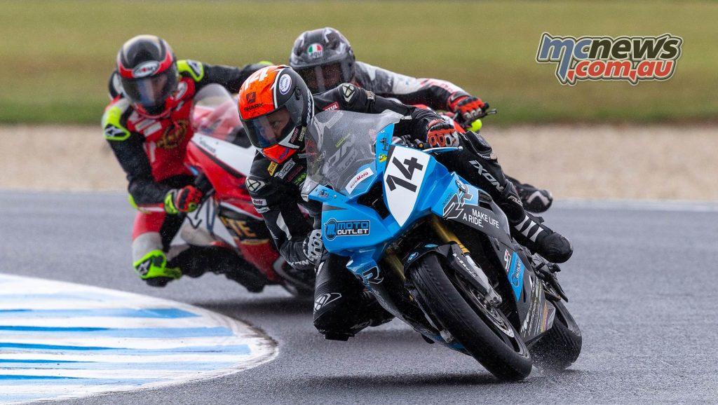 MotoGP ASBK Supports TBG Superbike Race Allerton Bayliss Herfoss
