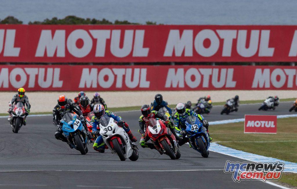 MotoGP ASBK Supports TBG Superbike Race Start
