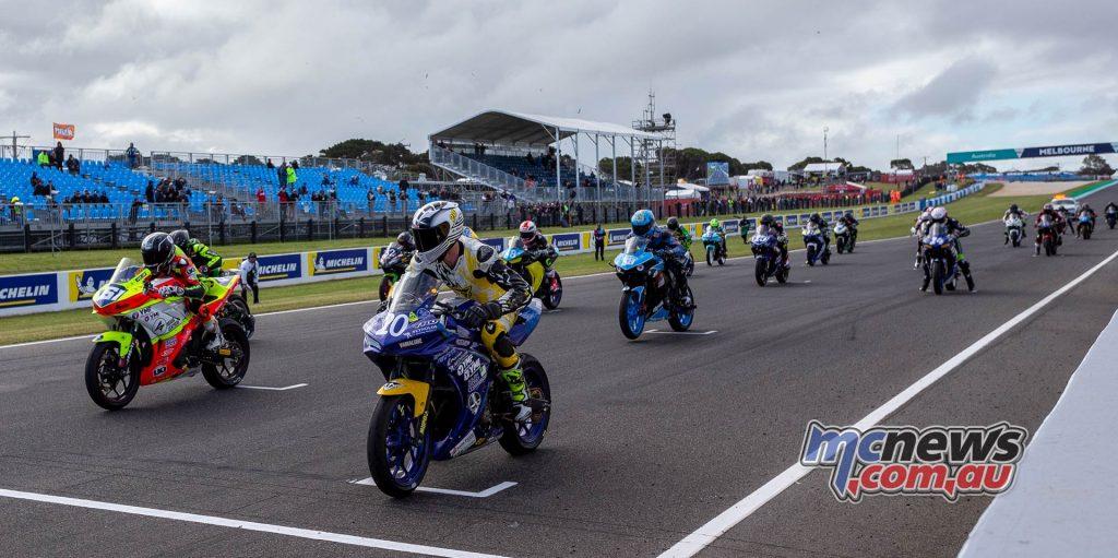 MotoGP ASBK Supports TBG Supersport Race Start