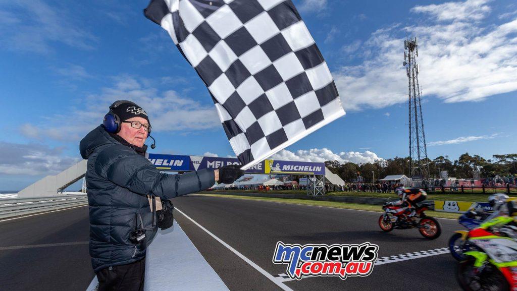 MotoGP ASBK Supports TBG Supersport Race Start Graham Chequers Stewart