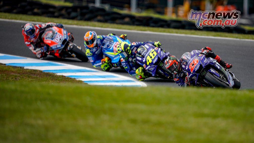 MotoGP Australia QP Vinales Rossi Rins Dovi