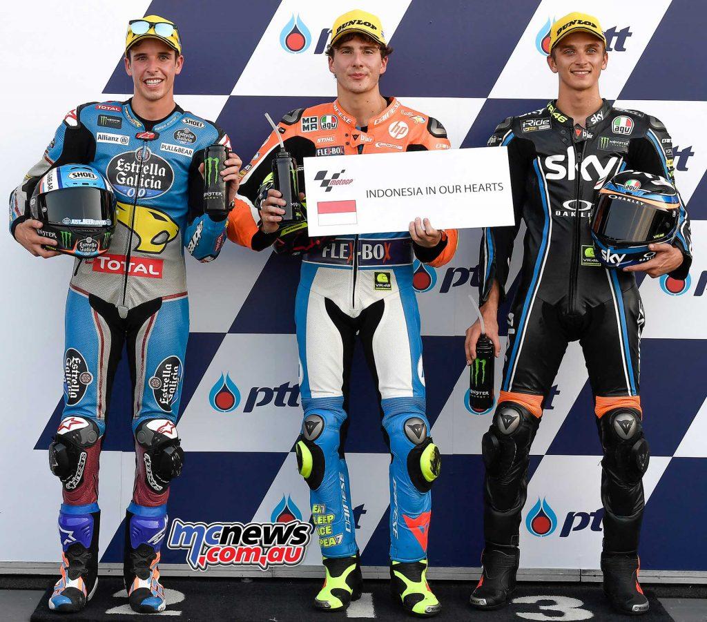 MotoGP Thailand QP Moto Baldassarri Marquez Marini