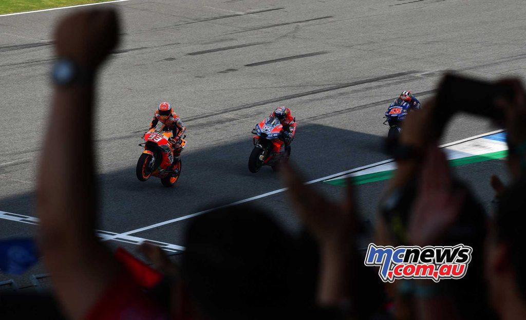 MotogGP Rnd Thailand Finish Marquez Dovi Vinales
