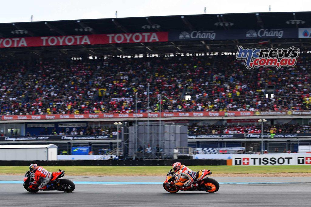 MotogGP Rnd Thailand Start Dovizioso Marquez
