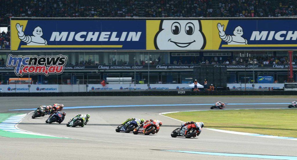 MotogGP Rnd Thailand Start Dovi Marquez Rossi Crutchlow