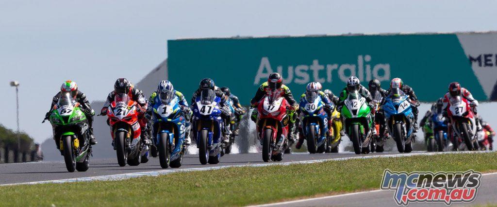 ASBK TBG Rnd Phillip Island Superbike Start