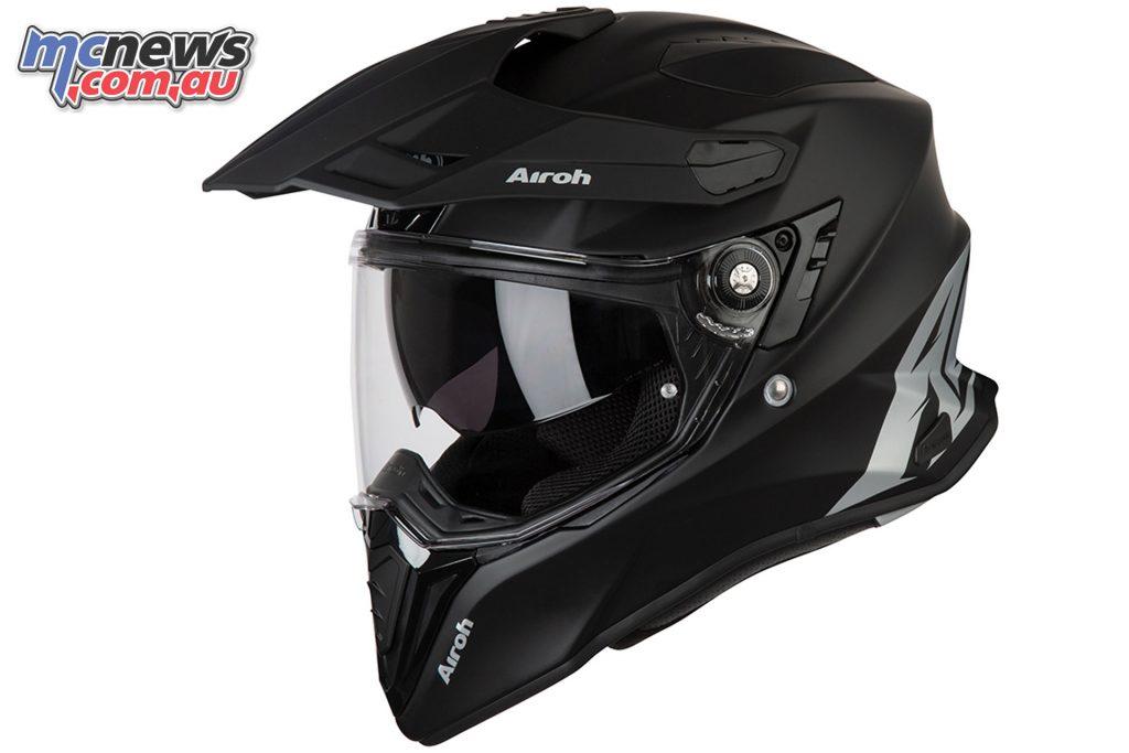 Airoh Commander Adventure Helmet Commander Solid Matt Black Left Side Angle